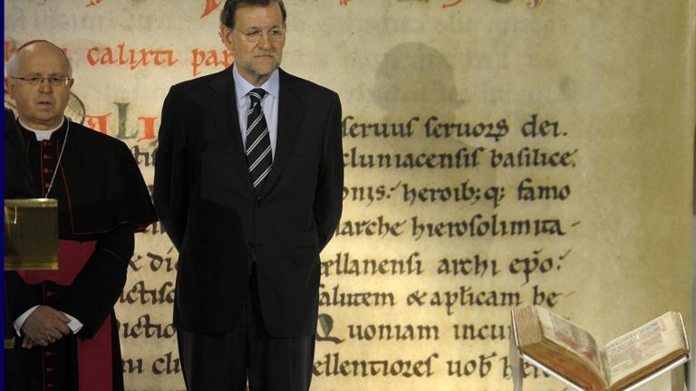 Rajoy y Feijoo presiden el acto de devolución del Códice Calixtino en la Catedral de Santiago