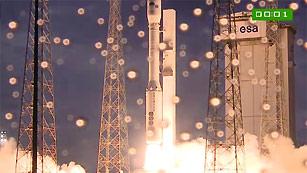 Ver vídeo  'El cohete Vega de la ESA despega con éxito para cumplir su primera misión'