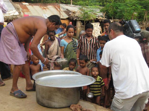 En una de las colonias de leprosos del estado de Orissa, India