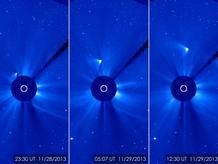 El cometa ISON reaparece tras pasar el perihelio.