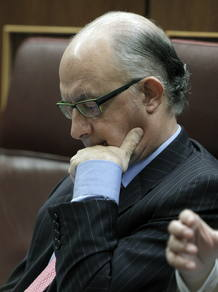 El diputado popular Cristóbal Montoro, en el Congreso de los Diputados