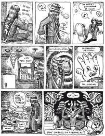 """""""Comix underground"""", página de '99 ejercicios de estilo' de Matt Madden"""
