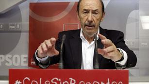 Ver vídeo  'Comparecencia íntegra de Alfredo Pérez Rubalcaba tras el Comité Federal del PSOE'