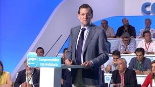 Ver vídeo  'Comparecencia íntegra de Rajoy en la clausura del congreso del PP andaluz'