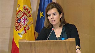 Ver vídeo  'Comparecencia íntegra de Soraya Sáenz de Santamaría en la presentación del Fondo Social de Viviendas en Alquiler'