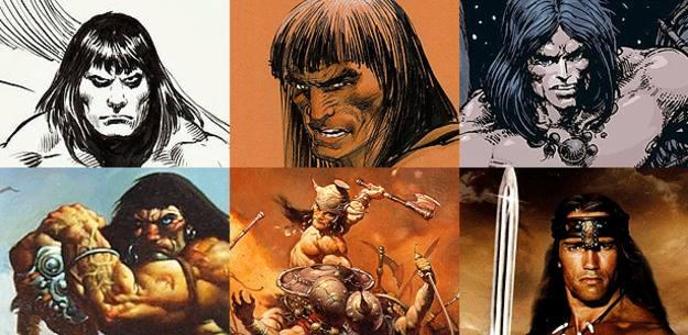 Conan visto por John Buscema, Neal Adams, Barry W. Smith, Simon Bisley y Frank Frazetta. Y Arnold