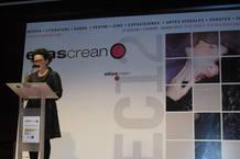 Concha Hernández, esta mañana, presentando 'Ellas crean 2012'