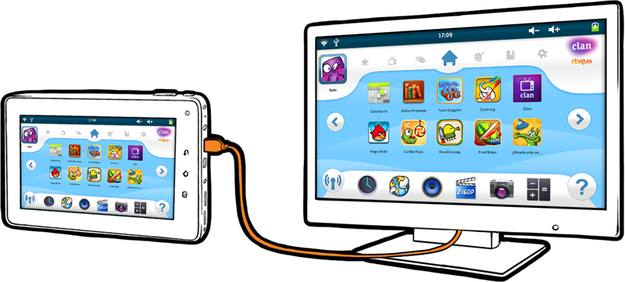 Conectar la tableta a la pantalla de TV