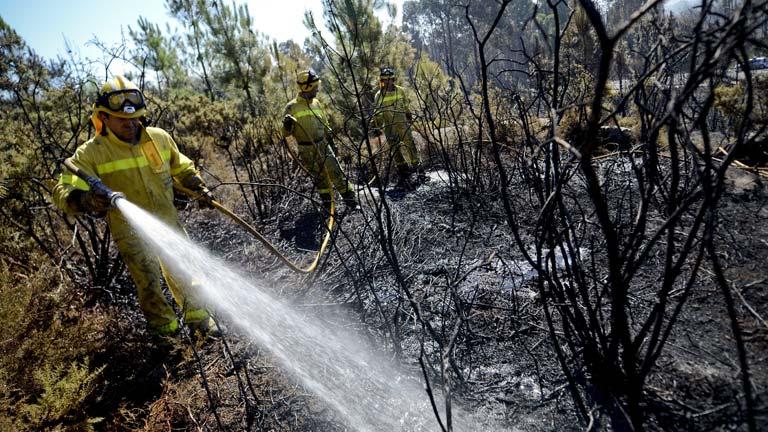 Después de los incendios del verano en Galicia, el peligro ahora es la erosión y las correntías