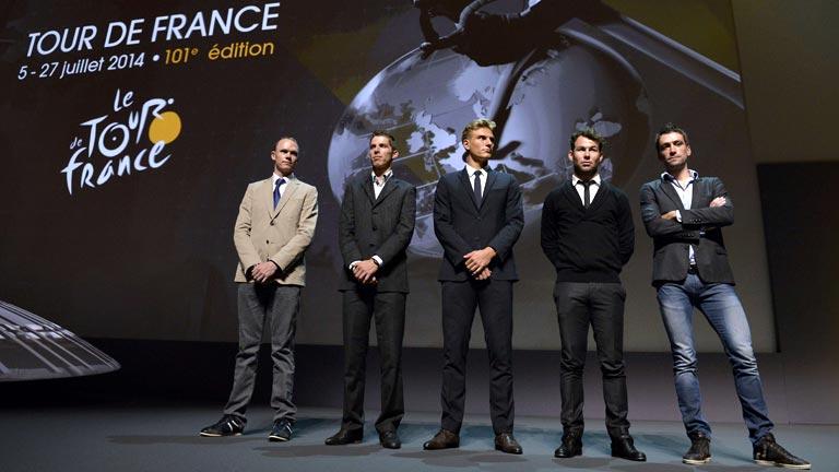 Contador y Froome huyen de los favoritismos en la presentación del Tour 2014