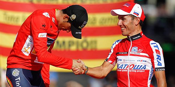 Contador saluda a Joaquim Rodríguez