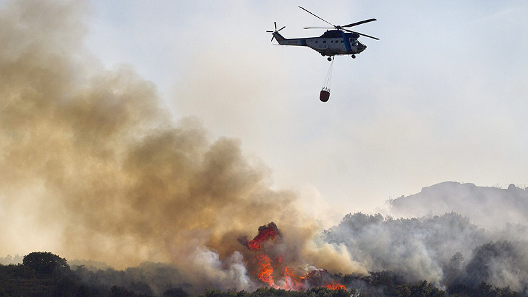 Controlados los incendios que afectan a Ourense