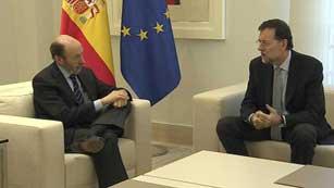 Ver vídeo  'La conversación telefónica entre Rajoy y Rubalcaba deja una cita para este viernes en Moncloa'