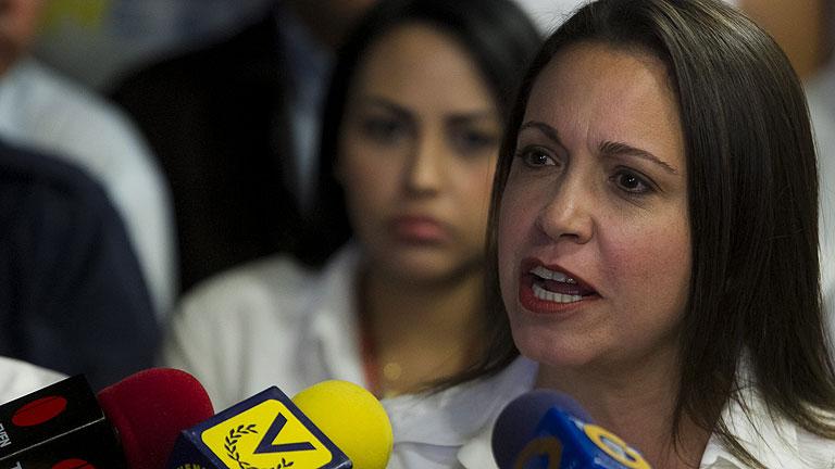 """Corina Machado: """"La violencia solo le conviene al Gobierno de Venezuela"""""""