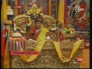 Coronación real en Bután