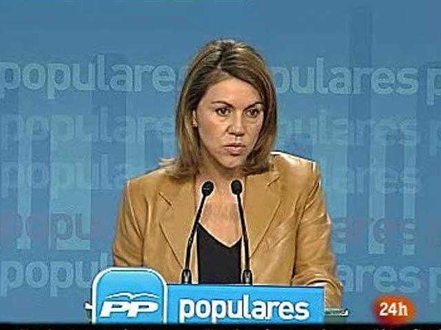 """De Cospedal dice que """"Batasuna no puede presentarse a las elecciones"""" y pide al Gobierno que actúe"""