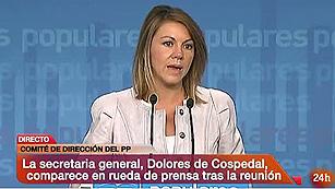 """Ver vídeo  'De Cospedal: """"El Gobierno hace todo lo que tiene que hacer para que España no sea intervenida""""'"""