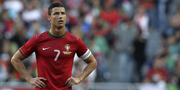 Cristiano Ronaldo durante el partido amistoso ante Turquía en el estadio Luz de Lisboa.