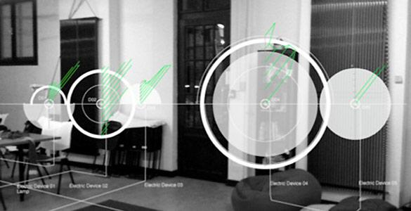 El consumo de energía en un hogar podría realizarse mediante herramientas de realidad aumentada, en las que cada gráfico mostrara el consumo de los aparatos y dispositivos que se están mirando