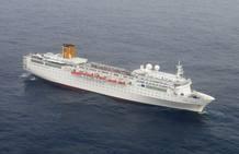 Imagen del Crucero Costa Allegra en el Océano Índico