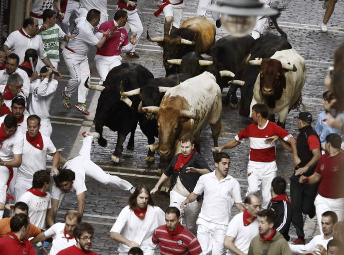 CUARTO ENCIERRO Fiestas de San Fermin Pamplona -  GRACIAS A TVE dia 10 de Julio 2014