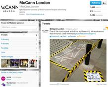 Cuenta oficial de Twitter de McCann