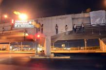 Cuerpos colgados de un puente en Nuevo Laredo, México