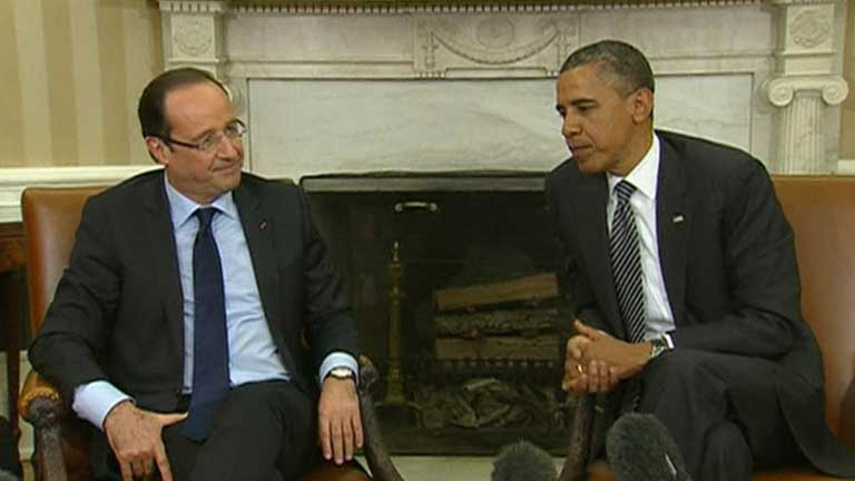 Obama y Hollande destacan la importancia de la zona euro