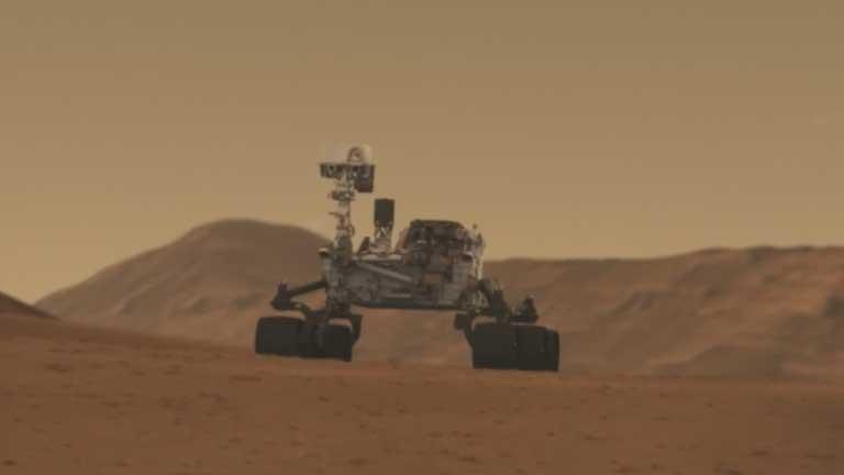 Curiosity mide por primera vez la cantidad de gas argón que hay en Marte