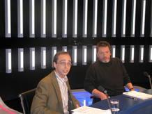 David Bravo, abogado especializado en Internet, y Enrique Urbizu, presidente de la asociación DAMA.