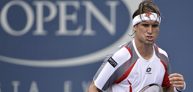 David Ferrer celebra un punto contra el franc&eacute;s Richard Gasquet en el US Open