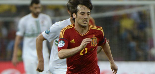 David Silva, en la Eurocopa