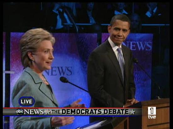 Ver vídeo  'Debate crucial entre Clinton y Obama'