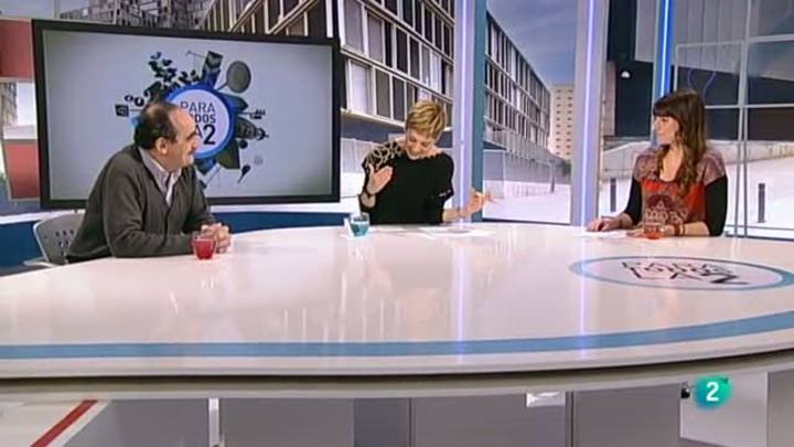 A moment of the debate about geothermal energy in the Spanish TV show