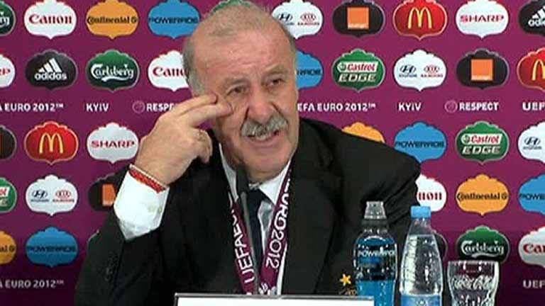 Del Bosque: &quot;Estos futbolistas representan el trabajo de un pa&iacute;s&quot;