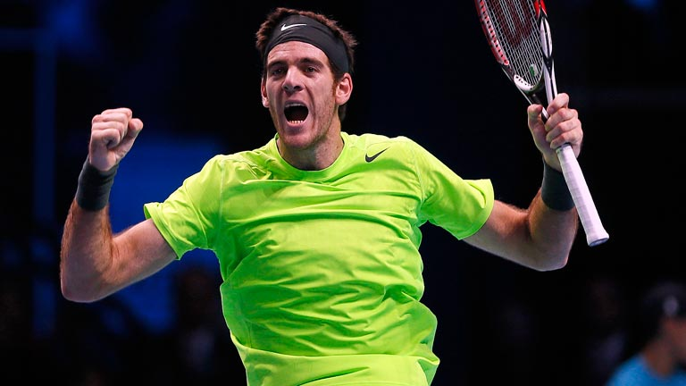 Del Potro vence a Federer en la Copa Masters