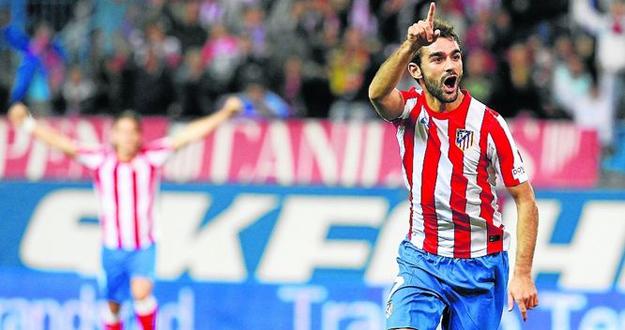 El delantero del Atlético de Madrid, Adrián.