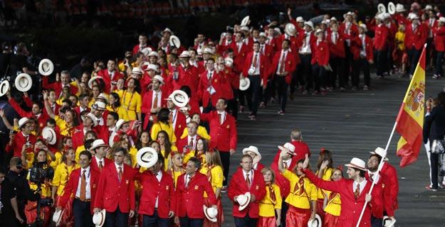 La delegación olímpica española desfila en Londres 2012