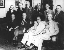 Una de las delegaciones que tomó parte en Bretton Woods.