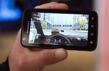 Echando unas carreras en el Motorola Atrix, con Android.
