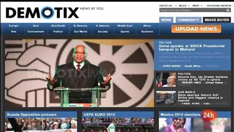Cámara abierta 2.0 - La agencia Demotix, el blog Ahorrar en crisis y Macaco en 1minuto.com - 14/07/12