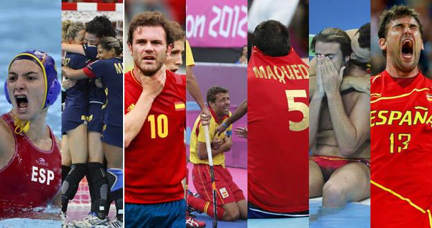 Deportistas de equipo españoles