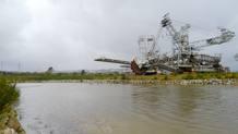 Una de las zonas del desagüe del lago para desembocar en el Eume