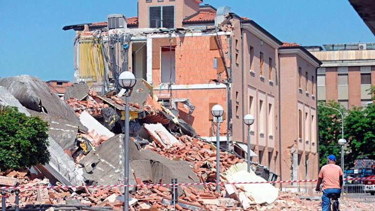 Varias réplicas en el terremoto del norte de Italia
