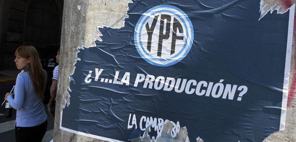 retirada de licencias en Argentina a Repsol YPF 30 de marzo de 2012