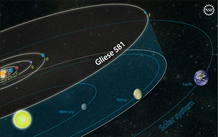 El sistema Gliese 58, donde se encuentra el primer planeta fuera del Sistema Solar que cumple con las condiciones de temperatura y gravedad para ser potencialmente habitable