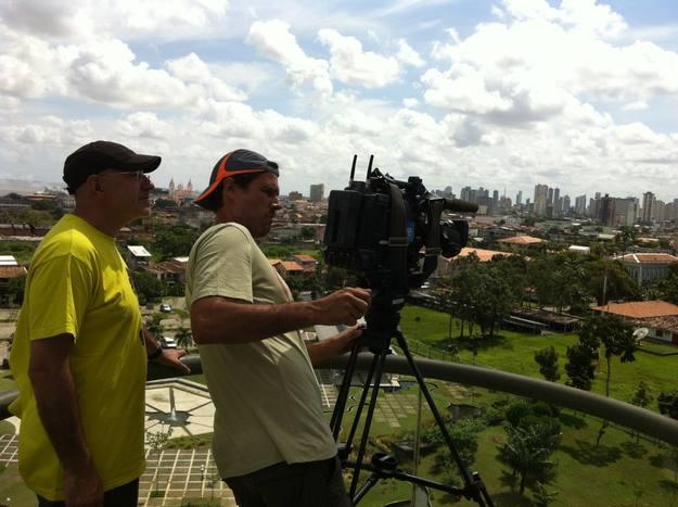 Desde un mirador de Belem do Pará, riqueza y pobreza juntas en Brasil.