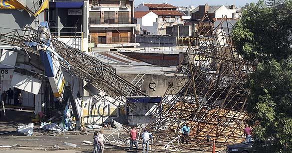 Destrozos por un temporal en Buenos Aires