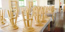 Detalle de un aula plástica del espacio Tangram