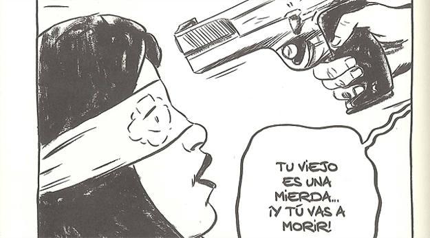 Detalle de una viñeta de 'Plagio. El secuestro de Melina', de Hernán Migoya y Joan Marín